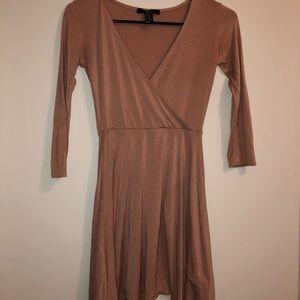Basic cross front dress